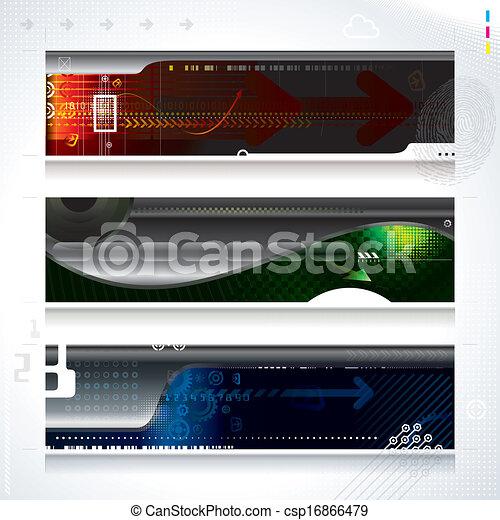technologie, bannière - csp16866479