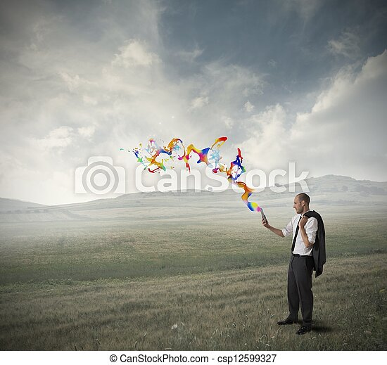 technologie, creatief - csp12599327