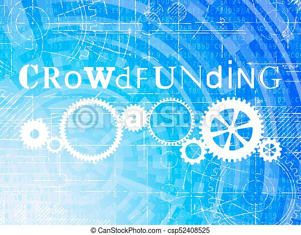 technologie de pointe, crowdfunding, fond - csp52408525