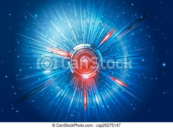 technologie de pointe, fond - csp25275147