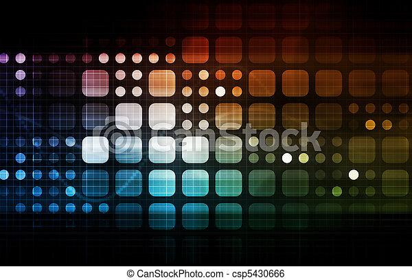technologie, futuristisch - csp5430666
