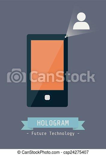 technologie, hologramme - csp24275407