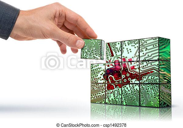 technologie, makend - csp1492378