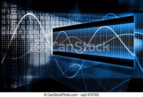 Multimedia-Technologie-Daten - csp1470763