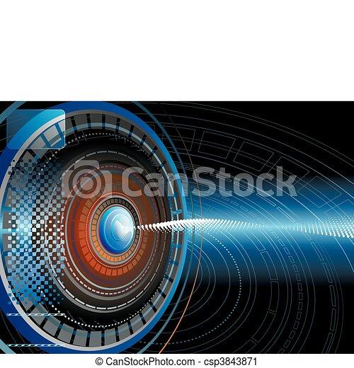 technologie pointe, résumé, fond - csp3843871