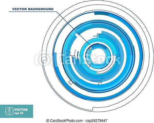 technologie, rotation, lignes, backgroun - csp24279447