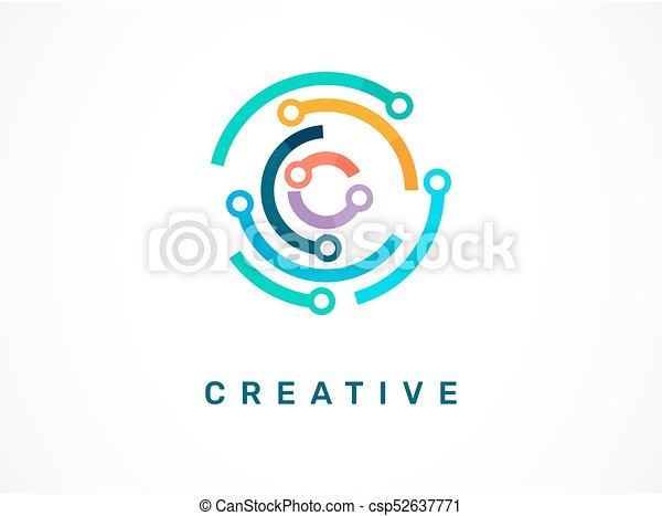 technologie, symbole, -, technologie, logo, icône - csp52637771