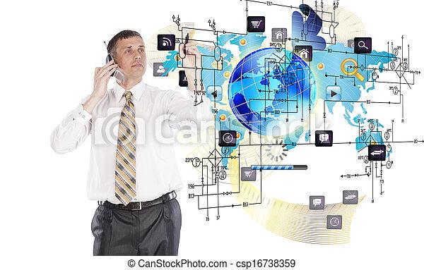 technologien, kreativ, internet - csp16738359