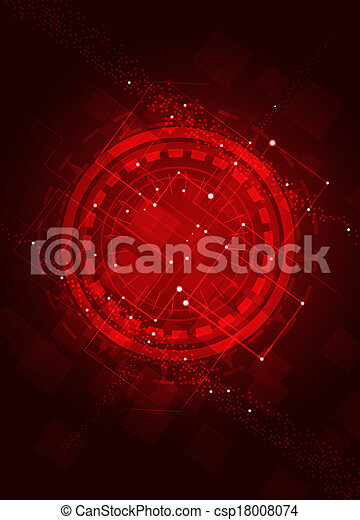 Technology Abstract Red Background - csp18008074