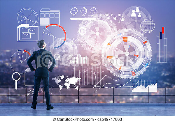 Technology, analytics and finance concept - csp49717863