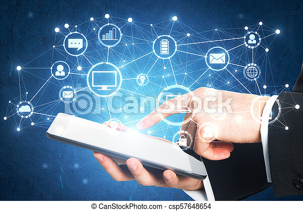 Technology and future concept - csp57648654