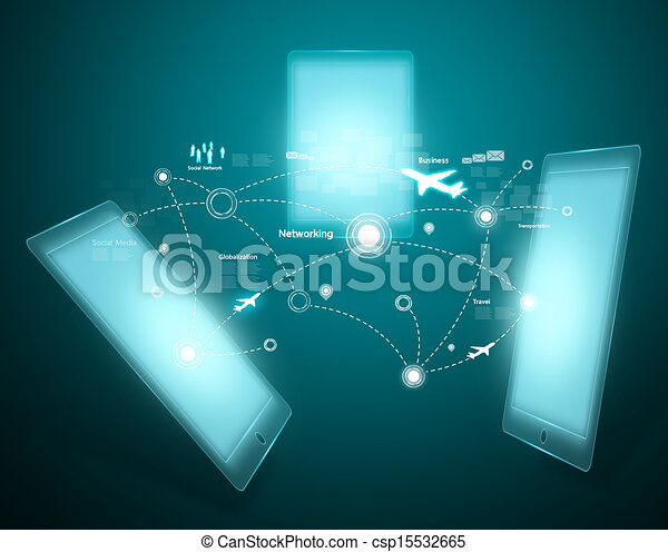 Technology and social network - csp15532665