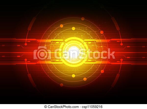 technology background design - csp11059216