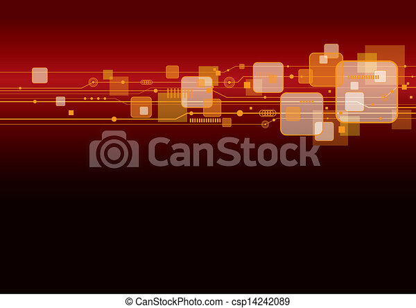 Technology background  - csp14242089