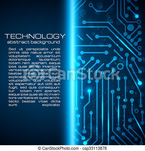 Technology background with space for your text. - csp33113878