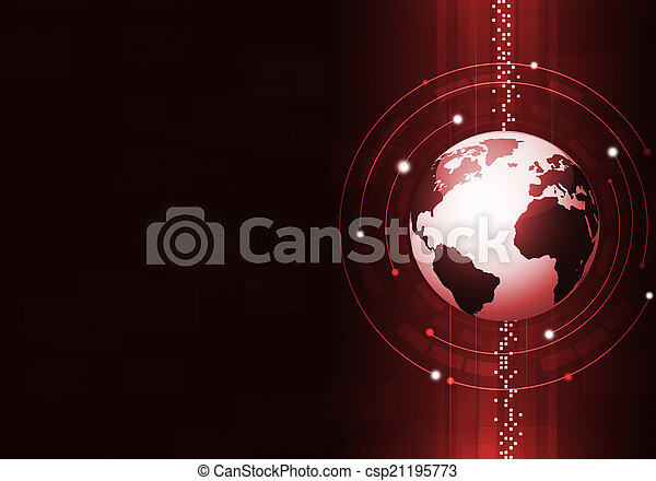 Technology Business Red Background - csp21195773