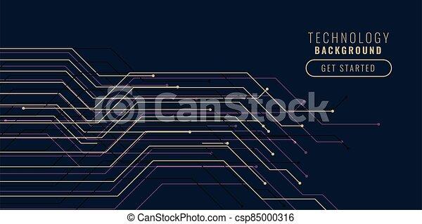 technology circuit lines background design banner - csp85000316
