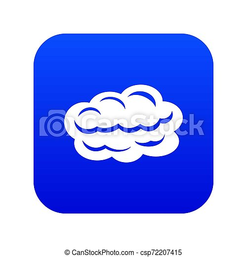 Technology cloud icon blue - csp72207415