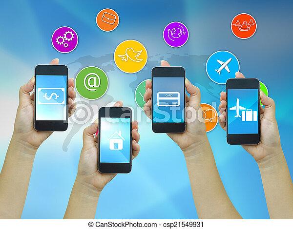 Technology communication. - csp21549931