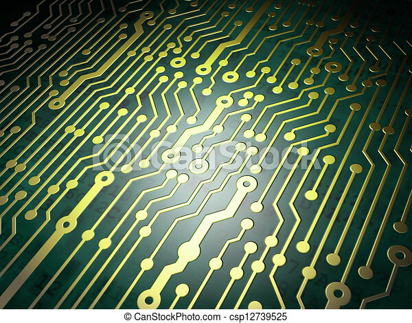 Technology concept: circuit board background - csp12739525