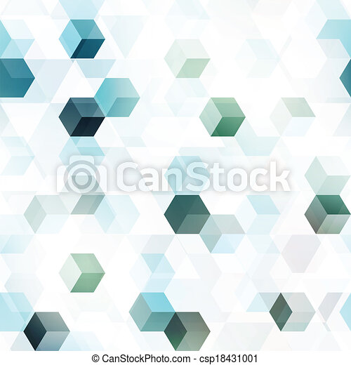 technology cube seamless pattern - csp18431001