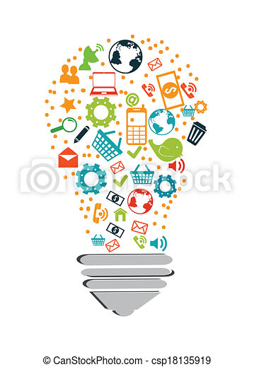 technology design over white background vector illustration rh canstockphoto com clipart information technology technology clipart free