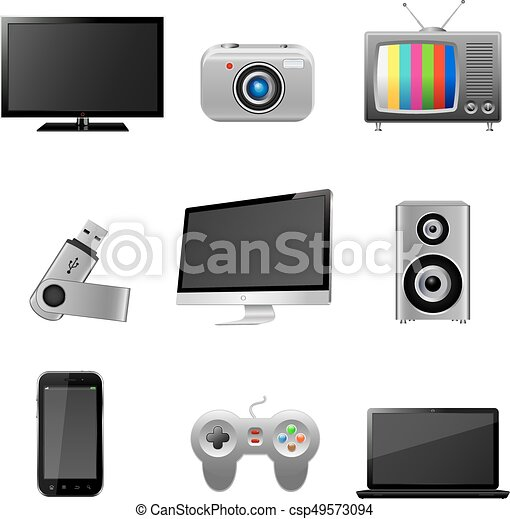 Technology devices icons - csp49573094