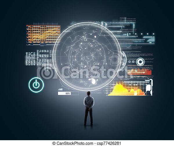 Technology futuristic - csp77426281