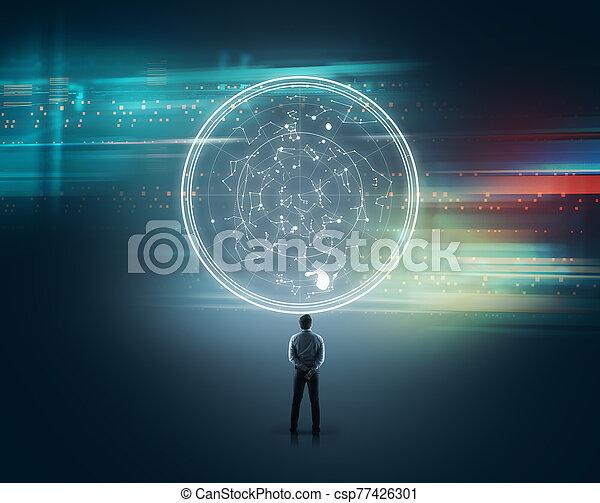 Technology futuristic - csp77426301
