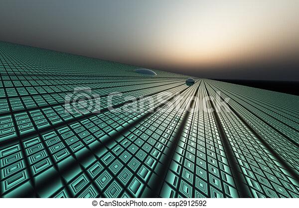 Technology Grid Background - csp2912592