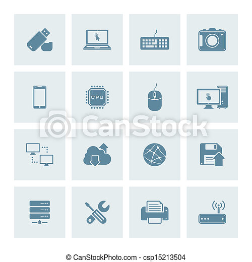 Technology icons - csp15213504