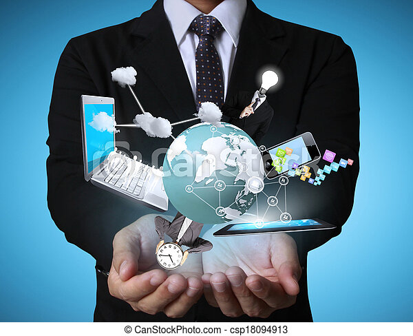 Technology in the hands - csp18094913