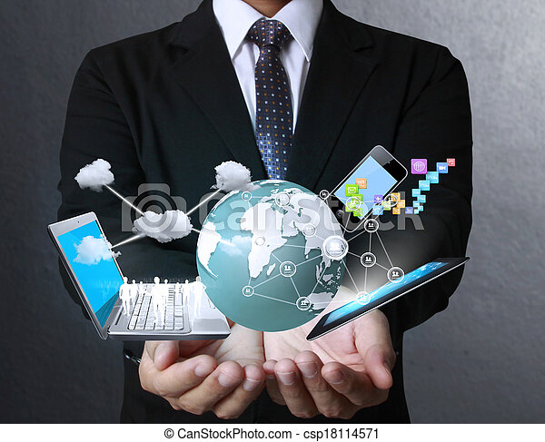 Technology in the hands - csp18114571