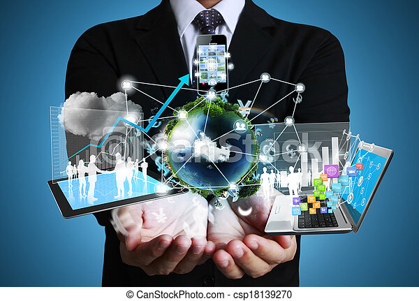 Technology in the hands - csp18139270