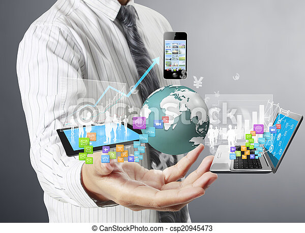 Technology in the hands  - csp20945473