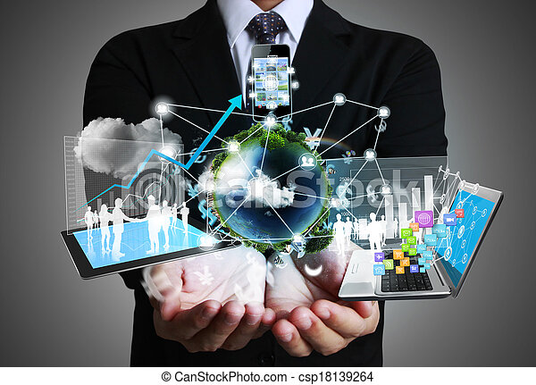 Technology in the hands - csp18139264