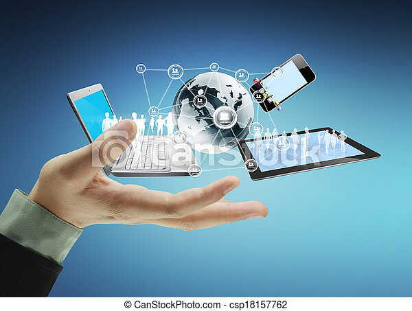Technology in the hands - csp18157762