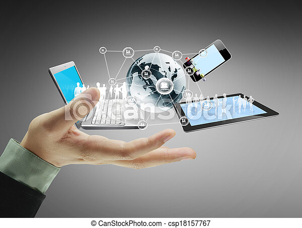 Technology in the hands - csp18157767