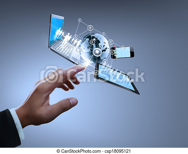 Technology in the hands - csp18095121