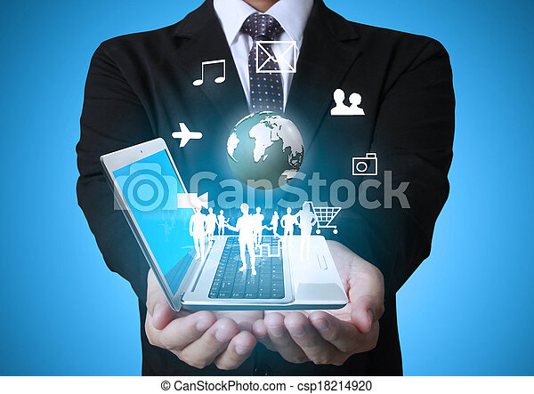 Technology in the hands - csp18214920