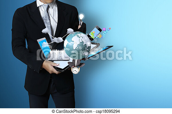 Technology in the hands - csp18095294