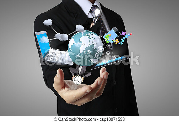Technology in the hands - csp18071533