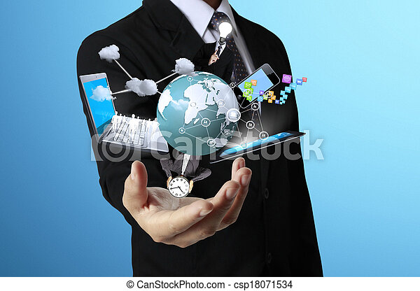 Technology in the hands - csp18071534