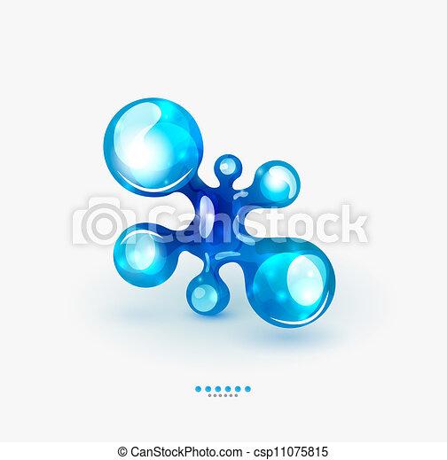 Technology liquid business emblem - csp11075815