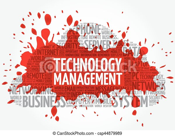 Technology Management word cloud - csp44879989