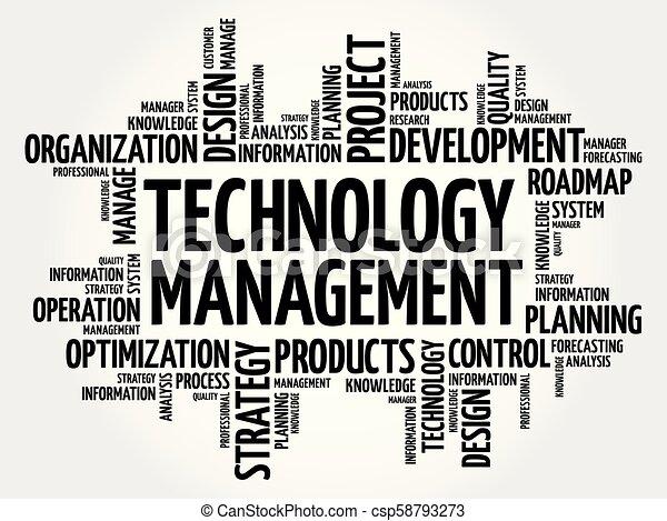 Technology Management word cloud - csp58793273