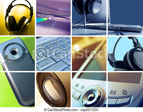 Technology Montage - csp0317231
