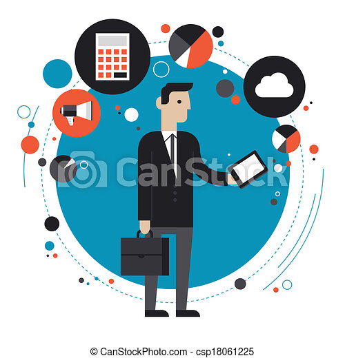 Technology of business flat illustration concept - csp18061225