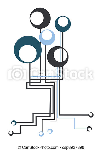 technology tree abstract technology connection tree vector rh canstockphoto ie