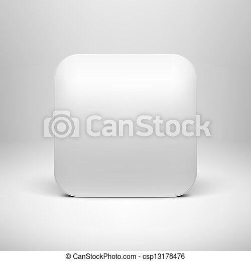 Technology white blank app icon template. Technology white blank app ...